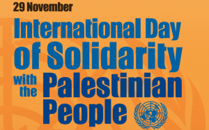AHRC observes Nov. 29, the International day of Solidarity with the Palestinian People: