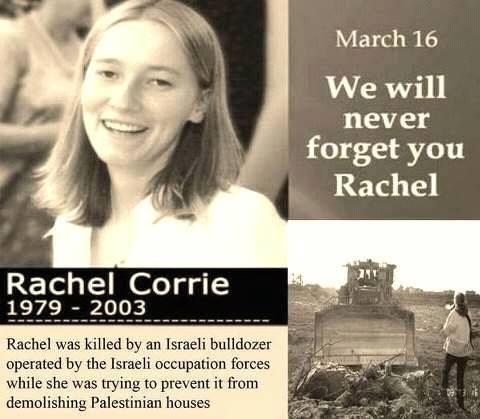 Remembering Peace activist Rachel Corrie (March 16)