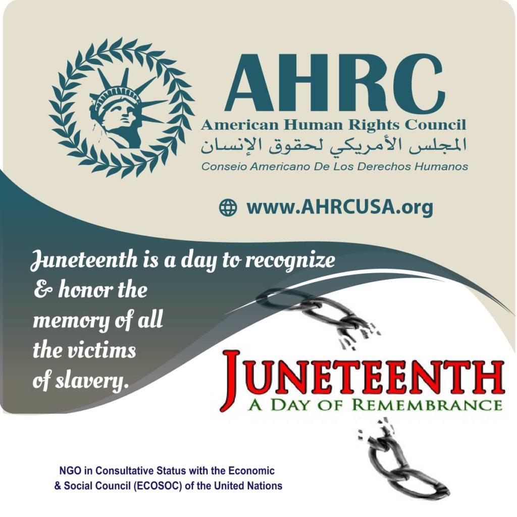 AHRC celebrates the 154th Anniversary of Juneteenth (June 19)