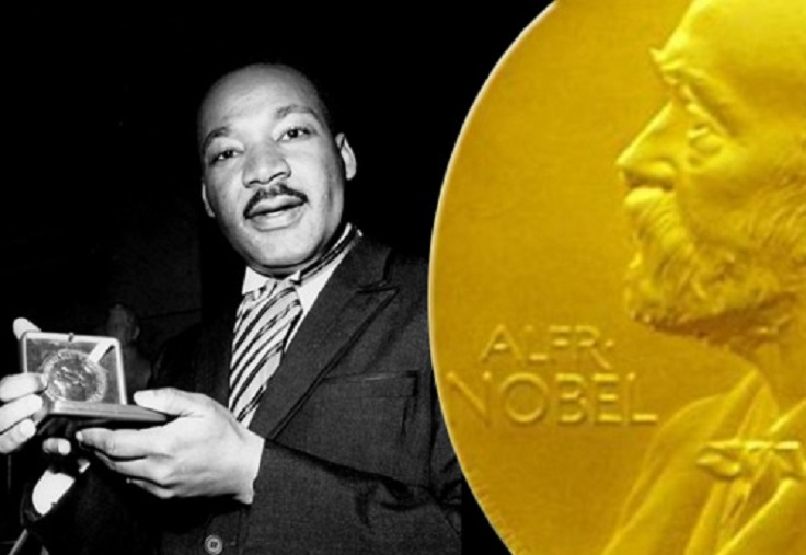 Dec 10, 1964: Dr. Martin Luther King Jr, received the Noble Peace Prize at age 35. A living legacy.