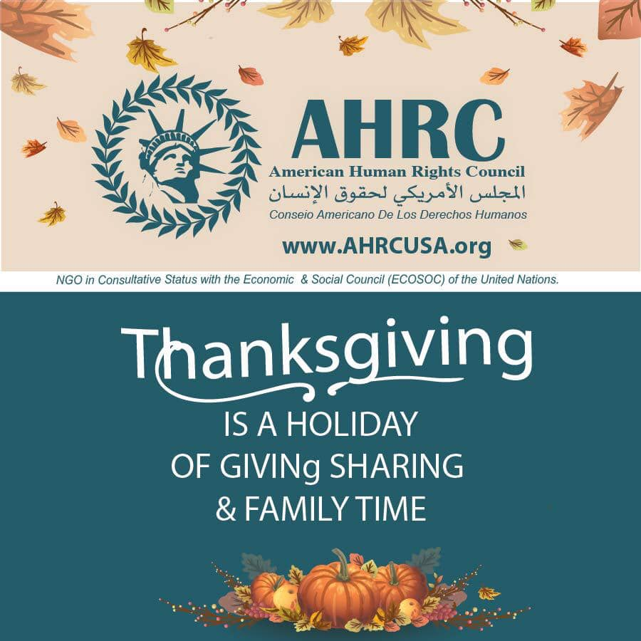 AHRC Wishes all a Happy and Safe Thanksgiving Holiday, Urges Compliance with Covid-19 Restrictions